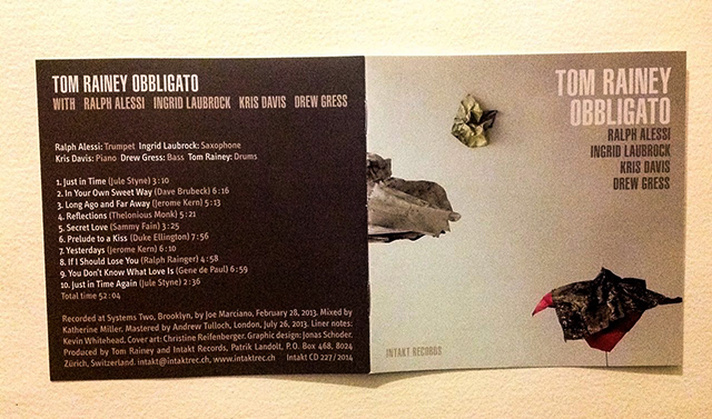 Tom Rainey: Obbligato (Intakt Records, 2014)